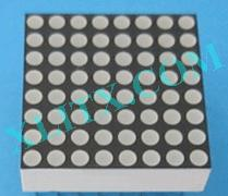 "Green 8x8 LED Matrix Display Dot Diameter 1.9mm 0.8"" Common Cathode"