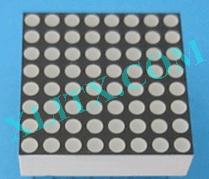 "Orange 8x8 Display Dot Matrix 1.9mm Diameter 0.8"" CA LED CC"