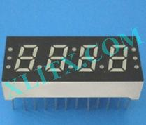 "Orange Seven Segment LED Display 0.3 inch 0.3"" Four Digit 4 Common Anode"