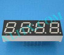 "Orange Seven Segment LED Display 0.39 inch 0.39"" Four Digit 4 Common Anode"