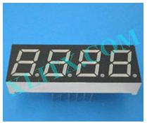 "Orange Seven Segment LED Display 0.52 inch 0.52"" Four Digit 4 Common Anode"