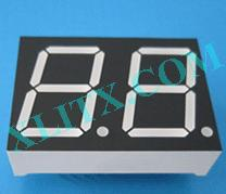 "Orange Seven Segment LED Display 0.8 inch 0.8"" Dual Digit 2 Common Anode 0.8inch"