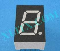 Red Ultra Bright LED 7 Segment Display 0.50 inch 0.5 Single Digit Common Anode CA