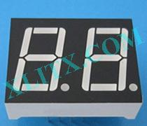 Red Ultra Bright LED 7 Segment Display 0.56 inch Dual Digit Common Anode CA