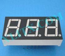 Red Ultra Bright LED 7 Segment Display 0.56 inch Three Digit Common Anode CA