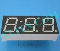 Yellow Green LED 7 Segment 0.39 inch 3 Digit Three Display Common Cathode CC