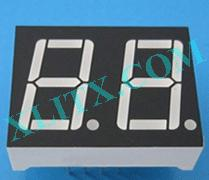 Yellow Green LED 7 Segment 0.56 inch 2 Digit Dual Display Common Cathode CC