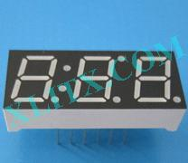 "Yellow LED Seven Segment Display 0.39"" Three Digit 3 Common Cathode CC"