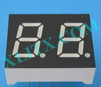 "Yellow LED Seven Segment Display 0.4"" Dual Digit 2 0.4 Common Cathode CC 0.4inch"