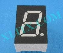 "Yellow LED Seven Segment Display 0.5 inch 0.50"" Single Digit 1 Common Cathode CC"