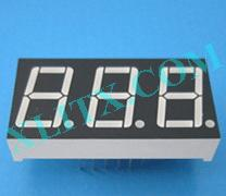 "Yellow LED Seven Segment Display 0.56"" Three Digit 3 Common Cathode CC"