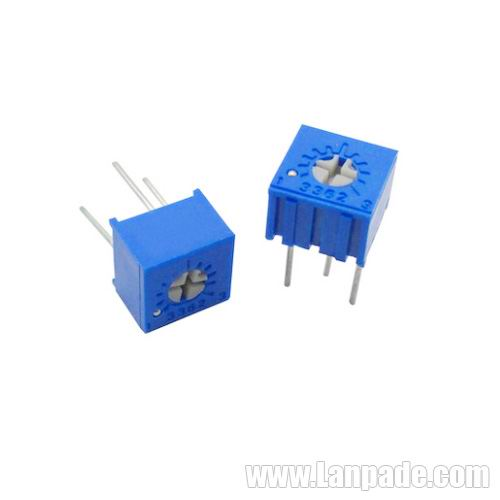 100R 100 Ohm 3362P-101 Square Single Turn Trimming Potentiometer Trimpot Variable Resistors 100PCS Lot