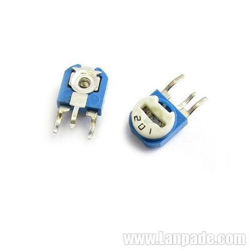 10K Ohm RM063-103 Blue White Potentiometer Single-Turn 6mm Carbon Film Variable Resistors WH06-1 100PCS Lot