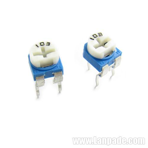 200R 200 Ohm RM065-201 Blue White Potentiometer Single-Turn 6mm Carbon Film Potenciometro WH06-2 100PCS Lot