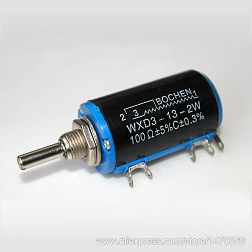 680R 680 Ohm Potentiometer WXD3-13-2W WXD3 13 2W Wirewound High Precision 100PCS Lot