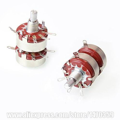 330K Ohm Dual-Unit WTH118 1A 2W Potenciometro Rotary Double Pot 100PCS Lot