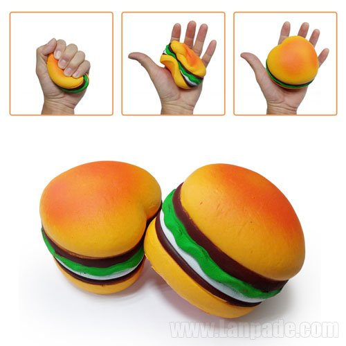 Jumbo Squishies Hamburger Slow Rising Squishy Scented Heart Shaped Toys Food Big Bun Simulation Bun Kids Free Shipping