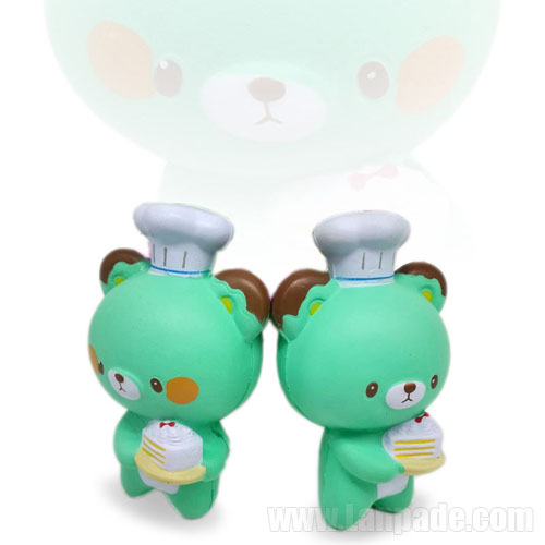 Kawaii Squishies Green Bear Squishy Cook Spicy Cute Toy Kids Relax Decoration Squeeze Slow Rising Animal Free Shipping
