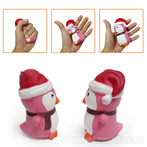 Squishies Toy Slow Rising Penguin Scent Squeeze Children Cute Kawaii Squishy Christmas Hat Animal Cap Decoration Free Shipping