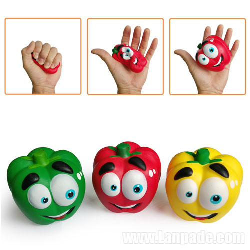 Vegetable Squishies Chilli Squishy Pepper Jumbo Slow Rising Fruit Squeeze Green Toy Simulation DHL Free Shipping